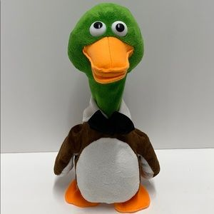 Giggles International Talking Duck Plush in Tuxedo